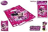 DISOK - Pack 8 Bolsitas Party Minnie - Bolsitas, Bolsas para Golosinas y Cumpleaños Infantiles Regalos para Niños