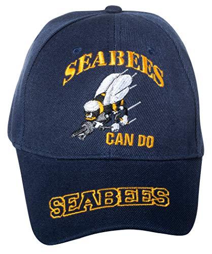 Artisan Owl United States Navy Seabees Can Do Baseball Cap bestickt Marineblau