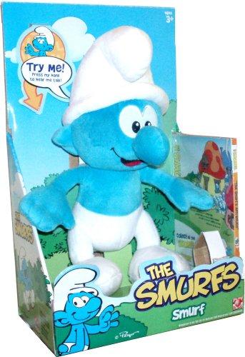 The Smurfs Talking Smurf Plush Pal With Bonus DVD