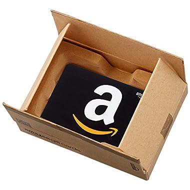 Amazon.com Gift Card in a Mini Amazon Shipping Box (Classic Black Card Design)