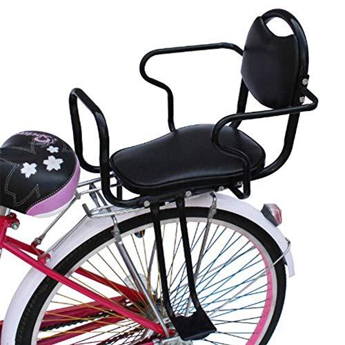 RANRANHOME Seggiolini per Biciclette, Seggiolino Posteriore per Bicicletta Seggiolino per Biciclette con Maniglia Staccabile per Bambini 3-8 Anni, Nero