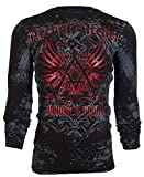 Affliction Archaic Mens Long Sleeve Thermal Shirt Achilles Biker (XX-Large) Black
