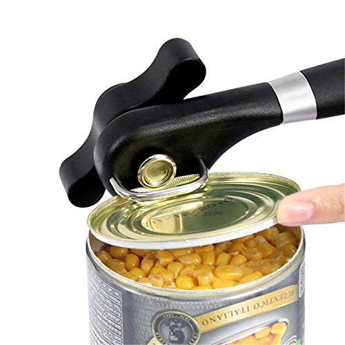 Can opener, manual can opener-smooth edge super sharp cutting tool-durable stainless steel handheld can opener