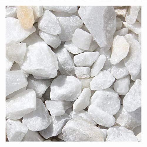 Marmor Weiss Ziersplitt 1000kg Big Bag 9-12mm, 15-25mm und 25-40mm (15-25mm)