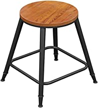 Wood Bar Stool,Bar Chair for Kitchen Breakfast Coffee Shop Restaurant High Stool L Chairs & Stools (Size : 45CM)