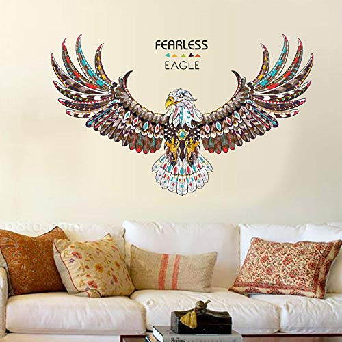 Fearless eagle animal wall stickers nursery living room bedroom background wall painted tatoo art home decor sticker sticker
