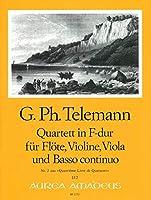 TELEMANN - Cuarteto en Fa Mayor (TWV:43/f1) (Partitura/Partes)