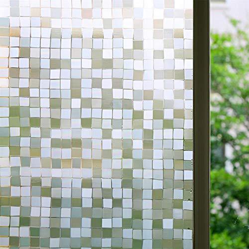 Bloss 3D no-glue Statische Sichtschutz Fenster Filme für Schlafzimmer/Badezimmer/Büro, Vinyl, Film-10, style5:17.7''x78.7''