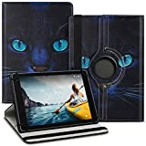 UC-Express Tablet Hülle kompatibel für Medion Lifetab P8502 Tasche Schutzhülle Hülle Cover aus Kunstleder Standfunktion 360° Drehbar, Farben:Motiv 7