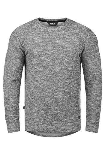 !Solid Gulliver Herren Sweatshirt Pullover Pulli Mit Rundhalsausschnitt Aus 100% Baumwolle, Größe:XL, Farbe:Black Melange (9000M)