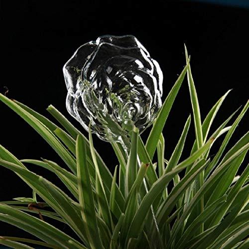 Protable Glas Pflanze Blumen Wasser-Zufuhr Selbstbewässerungs Vogel Design Pflanze Waterer 6 Typen Dekor Wasserkanister (Color : B)