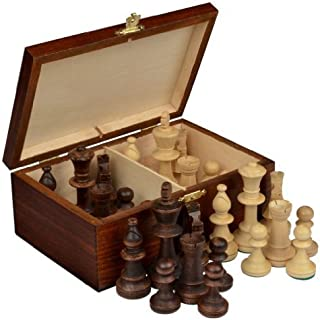 Wegiel スタントン チェス駒 トーナメント No.5 木箱付き  [並行輸入品]