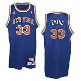 adidas York Knicks #33 Patrick Ewing NBA Soul Swingman Jersey, Blue, Size: Medium