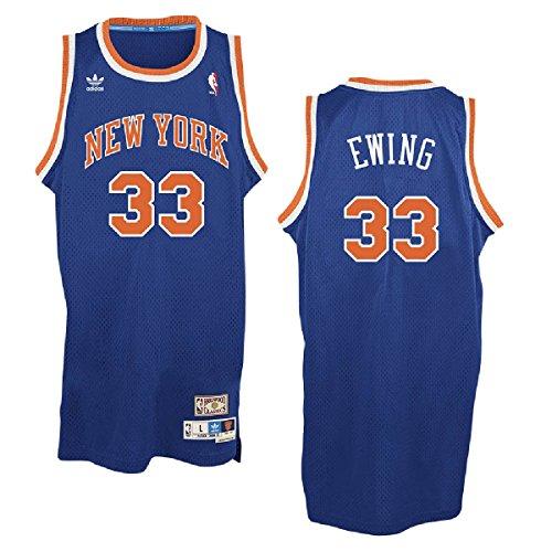 adidas New York Knicks #33 Patrick Ewing NBA Soul Swingman Jersey, Blue, Size: Small