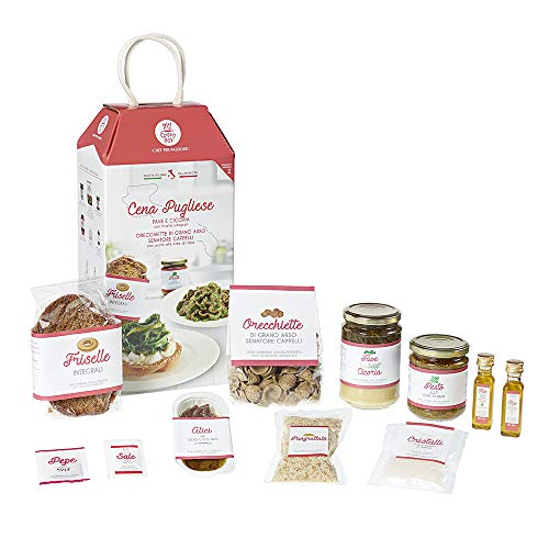 CENA PUGLIESE My Cooking Box x2 Porzioni - Per una serata tra amici, una cena romantica o come idea regalo originale! Resta a casa con My Cooking Box!