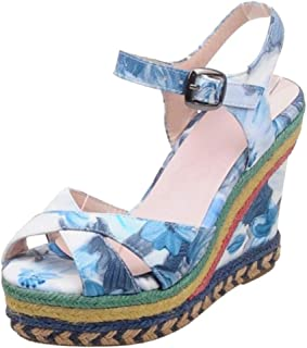 Zanpa Women Fashion Wedges High Heel Summer Shoes