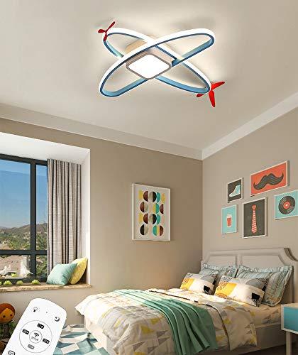 LED 36W Regulable Plafon de Techo con Control Remoto Creatividad Aeronave Lámpara de Techo Iluminación de 360 ° Acrílico Pantalla de lámpara para Niña Niño Dormitorio Jardín de Infancia L60CM