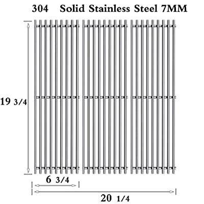 Htanch SF5051 (3-Pack) Stainless Steel Cooking Grid Grates Replacement for Chargriller Charcoal 3001, 3008, 3030, 3072, 3232, 3725, 4000, 4001, 4008, 4208, 5050, 5072, 5252 Gas Grills Set of 3