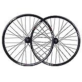 Accesorio de bicicleta de ejes de liberación rápid Set de ruedas de freno de disco MTB 26 pulgadas Bicicleta de montaña Bicicleta Llantas QR para 3/8/9/10 Cassette de velocidad 32 Hablado Bicicleta de