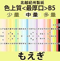 北越紀州色上質B5縦目<最厚口>[もえぎ](200枚)