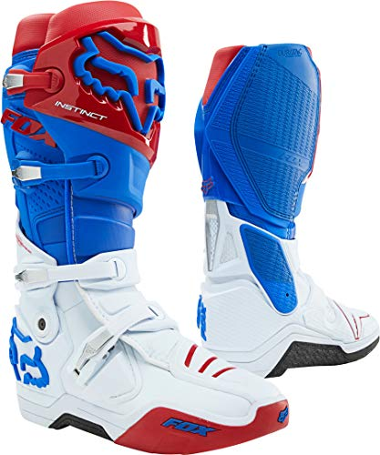 FOX Instinct Stivali Motocross Blu/Bianco/Rosso 12