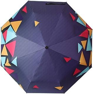 方朝日スポーツ用品店 屋外サンスクリーン折りたたみ太陽の傘女性の夏のパラソル (Color : ブルー)
