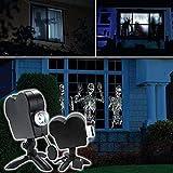 Projecteur holographique d'Halloween, lumières de projecteur LED de fenêtre de Noël, lampe de projection de festival...