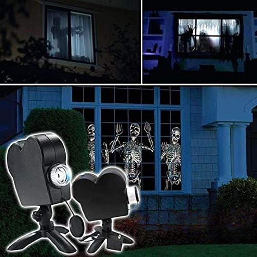Holographischer Halloween-Projektor, LED-Projektorlichter des Weihnachtsfensters, 12 Filmfestival-Projektionslampe für Weihnachtsfeierdekoration