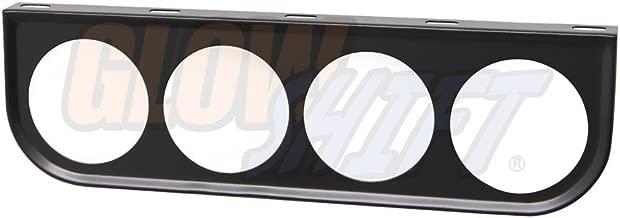 GlowShift Universal Black Quad Gauge Mounting Bracket Pod - Fits Any Make/Model - Mounts (4) 2-1/16
