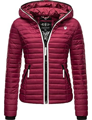 Navahoo Kimuk Prc overgangsjas voor dames, gewatteerde jas met capuchon, XS-3XL, bordeaux, XL