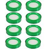 Yootop 8 Pcs Plastic Round Sponge Finger Wet Moistener for Desktop Counting Cash Money 2.7-Inch Diameter Green