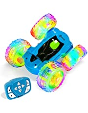 Remote Control Car, Contixo SC3 RC Cars Stunt Car Toy, 4WD 2.4Ghz Double Sided 360° Rotating RC Car with Headlights, Kids Cars for Boys/Girls (Blue)