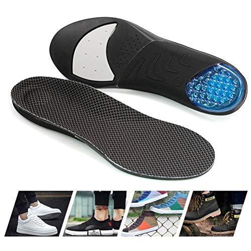 Insole Air Cushion Soletta, Assorbimento di Scossa Traspirante Thick Sweat-Assorbente Sport Soletta per L esecuzione di Allenamento Militare,L(40~45)