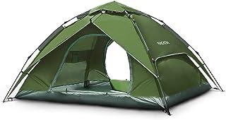 NACATIN テント ワンタッチテント 4-6人用 キャンプテント 設営簡単 二重層 2役 ワンタッチ サンシェードテント 防水 通気性 防災用 アウトドア キャンプ 登山 BBQ 専用収納袋付き