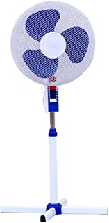 Ventilador de pie 16 Pulgadas (40cm), 60W de Potencia, función 3 en 1 (de pie, Pared y Suelo), 3 aspas. Selector de 3 velocidades y Altura Ajustable. Cable de 1.80 Metros