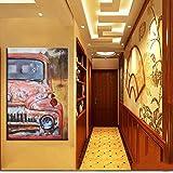AJleil Puzzle 1000 Piezas Pintura de Color Abstracto Cuadro de Pintura de Arte de Coche de época Puzzle 1000 Piezas educa Gran Ocio vacacional, Juegos interactivos familiares50x75cm(20x30inch)