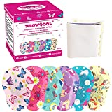 Meowgool Adhesive Eye Patches for Kids with Lazy Eye, 30+3 Bonus Patches, 6 Fun Girls Designs, 1 Stickers Incentive Poster (Regular Size)