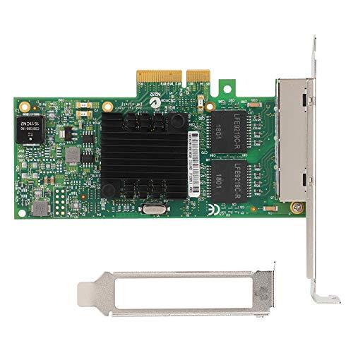 Tangxi 4-Port Gigabit Netzwerkkarte, 10/100/1000Mbps Computer 4-Port PCI-E Gigabit LAN Netzwerkkarte, Chip für Intel I350-T4 Unterstützung ISCSI, PXE Diskless Boot, Soft Routing