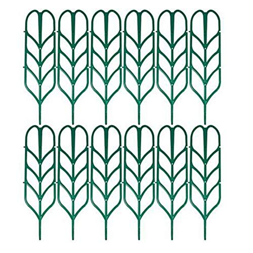 Xigeapg 12 Garten Gitter Kletter Pflanze StüTze für Zimmer Pflanzen T?Pfe. Blumen Topf Garten Plastik Einsatz