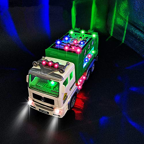 HUANDATONG Garbage Truck Toy Toys for 3-9 Year Old Boys,4D Light Universal...