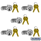 SALSBURY INDUSTRIES 3590-5 Lock for Vertical Mailbox Door 2 Keys PER Lock-5 Pack