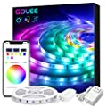 Alexa LED Light Strip, Govee WiFi APP Control 16.4ft Smart LED Strip Lights, Music Sync 16 Million Colors RGB LED Lights for Room, Home, Kitchen, TV, Party, Halloween, Christmas, Waterproof