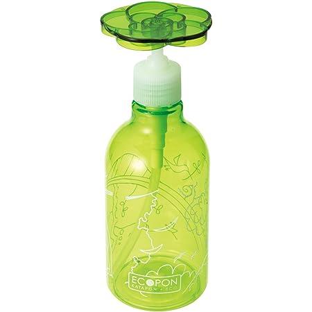 セシール エコポン グリーン 300ml 洗剤ボトル 片手でワンプッシュ 花型プレート 日本製 WE-255