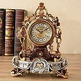 LHQ-HQ Estilo europeo retro campanas personalidad pastoral moda reloj creativo sala de estar relojes y silencio relojes (color bronce)