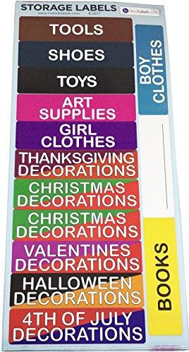 Opslag Verhuizing Stickers, 25 x 102 mm 1 x 4 Inch Organiseren Labels 140 Pak