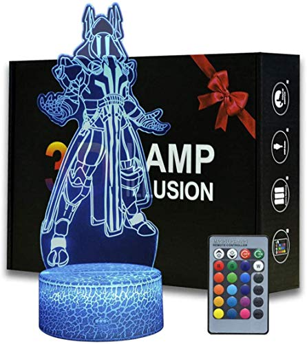 3D noche luz para niños 3D ilusión lámpara hielo rey 16 color cambiante LED humor lámpara escritorio mesa lámpara niños regalo