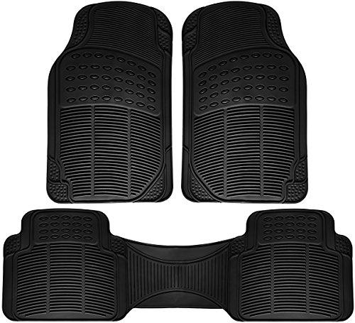 OxGord Universal Fit Ridged Heavy Duty Rubber Floor Mat