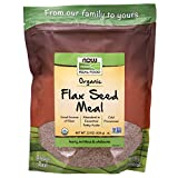 NOW Foods, Organic Flax Seed Meal, Source of Essential Fatty Acids and Fiber, Cold-Processed, Certified Non-GMO, 22-Ounce