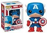 Funko - POP! Bobble Colección Marvel - Figura Capitán América (2224)