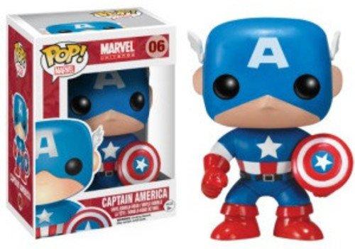 Funko - POP! Bobble Colección Marvel - Figura Capitán Amé